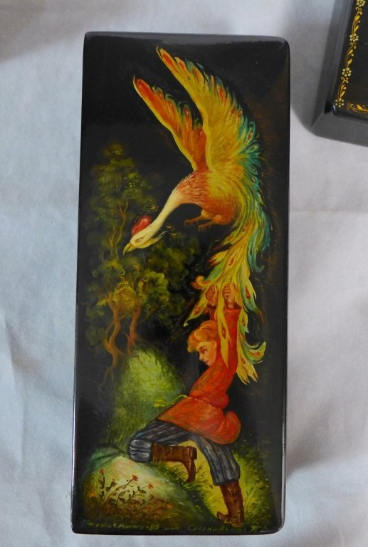 Russian Hand Painted Lacquer Boxes - 3