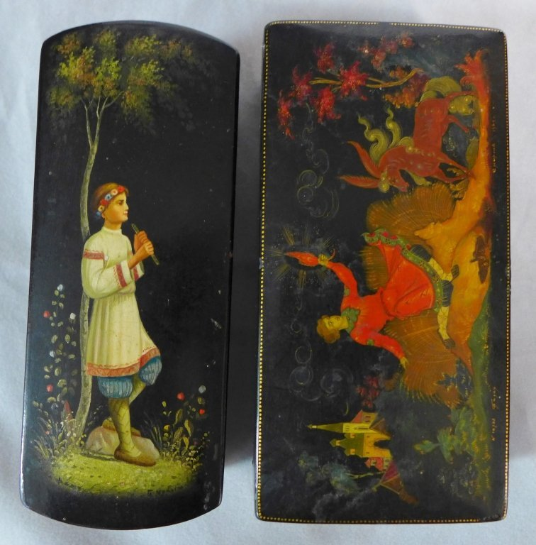 Russian Hand Painted Lacquer Boxes - 5