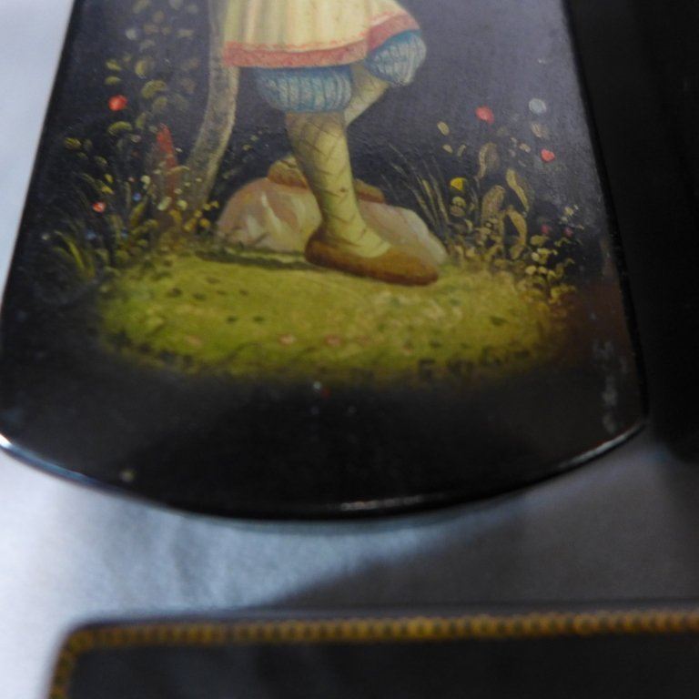 Russian Hand Painted Lacquer Boxes - 8