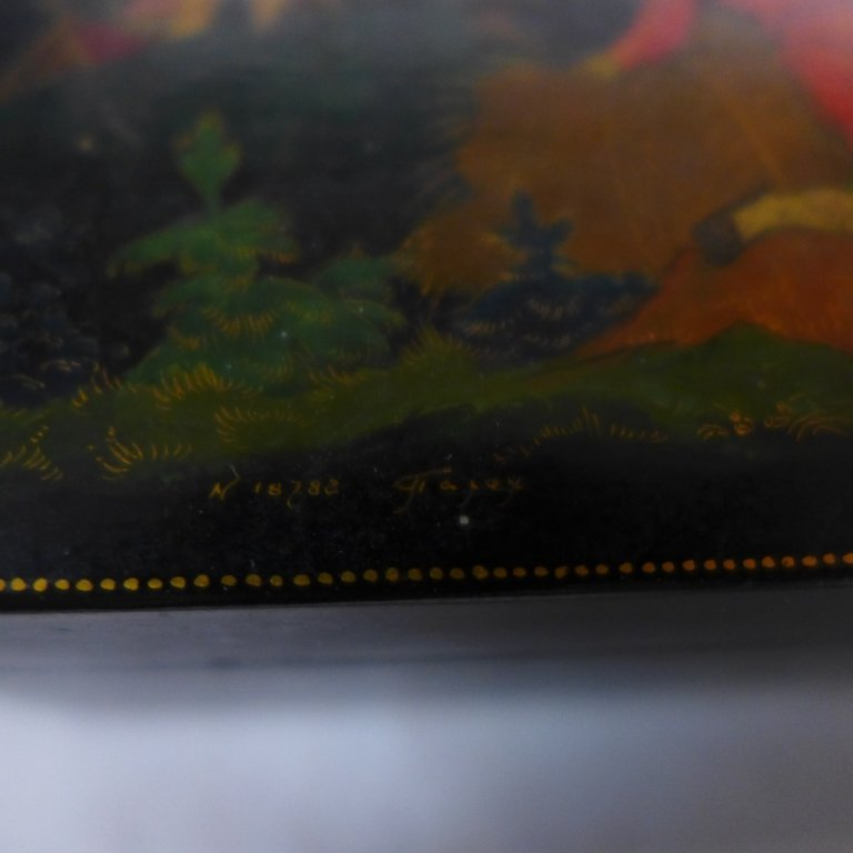 Russian Hand Painted Lacquer Boxes - 9