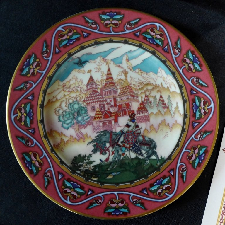 3 Heinrich Russian Fairy Tales Collector Plates - 3