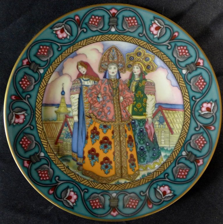 3 Heinrich Russian Fairy Tales Collector Plates - 2