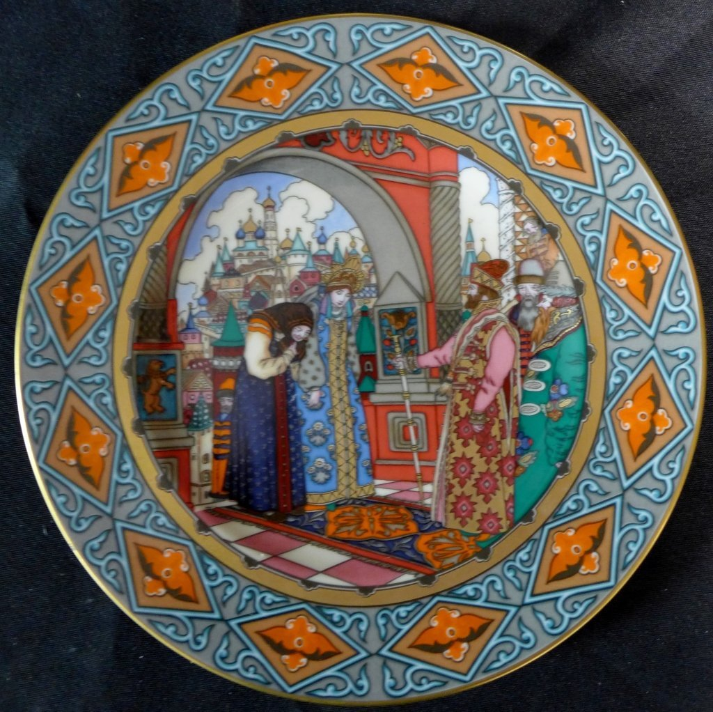 3 Heinrich Russian Fairy Tales Collector Plates - 4