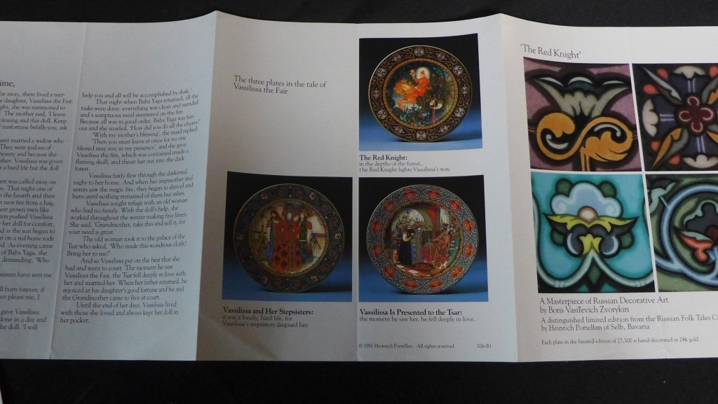 3 Heinrich Russian Fairy Tales Collector Plates - 7