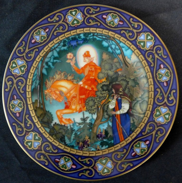 3 Heinrich Russian Fairy Tales Collector Plates - 8