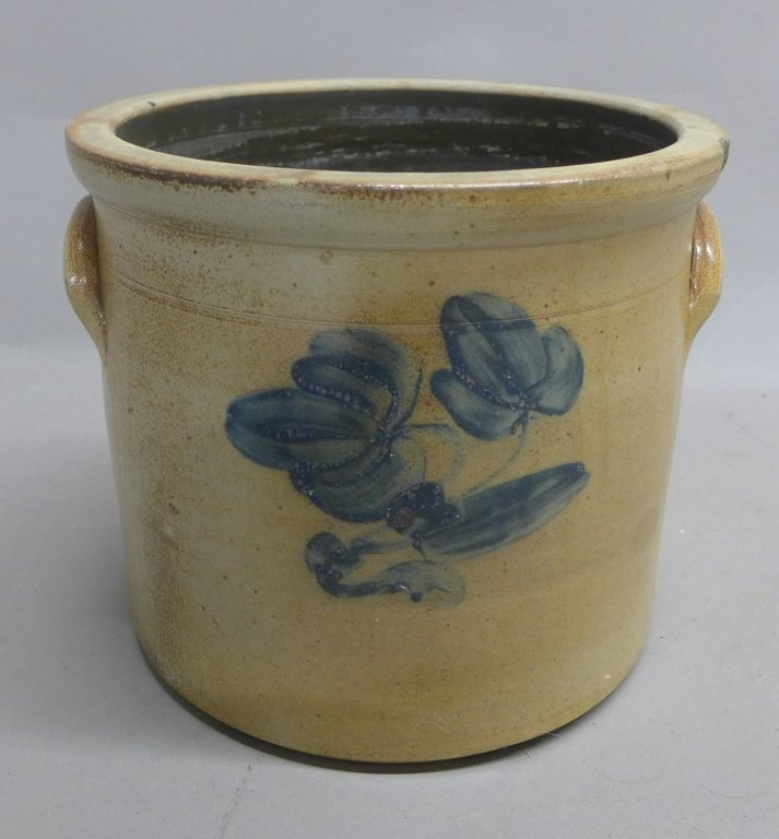 Antique Stoneware Pottery Crock