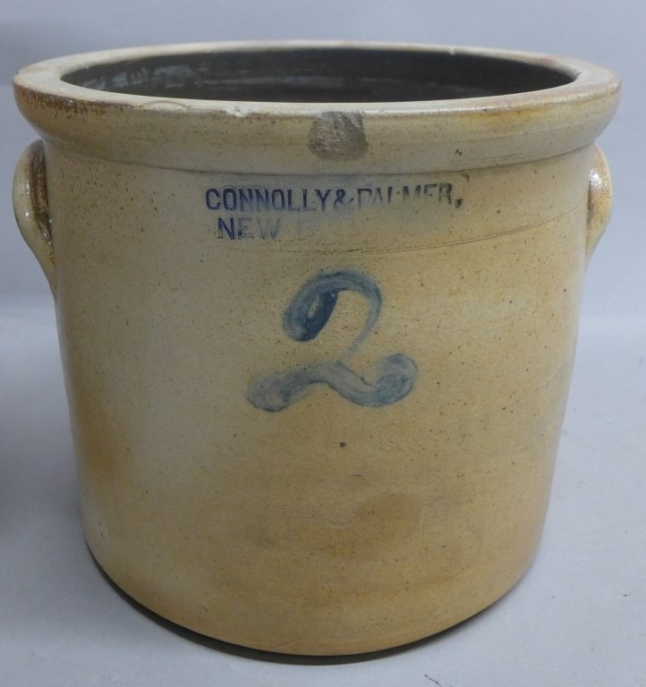 Antique Stoneware Pottery Crock - 3