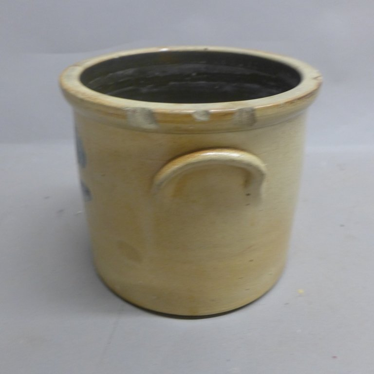 Antique Stoneware Pottery Crock - 9