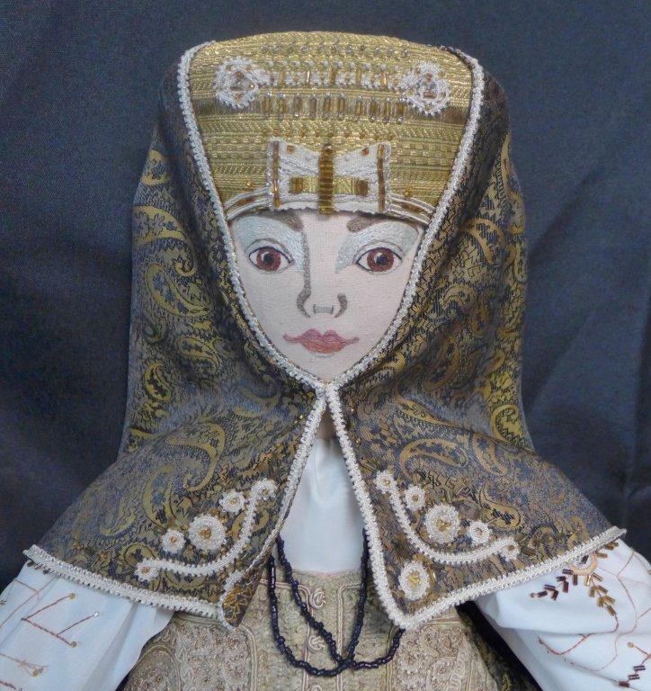 "Cloth Doll ""Vasilisa"" Designed By Koukinova - 2"