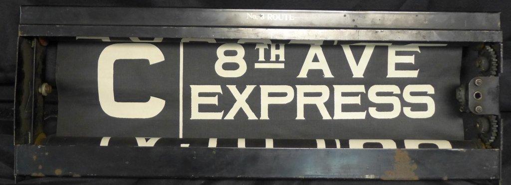 Original NYC Subway 8th Ave Line Sign - 2