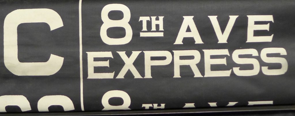 Original NYC Subway 8th Ave Line Sign - 5
