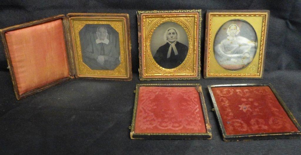 Three Ambrotypes / Daguerreotypes of Women
