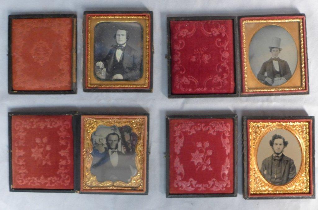 Four Cased Ambrotypes/ Daguerreotypes of Gentlemen