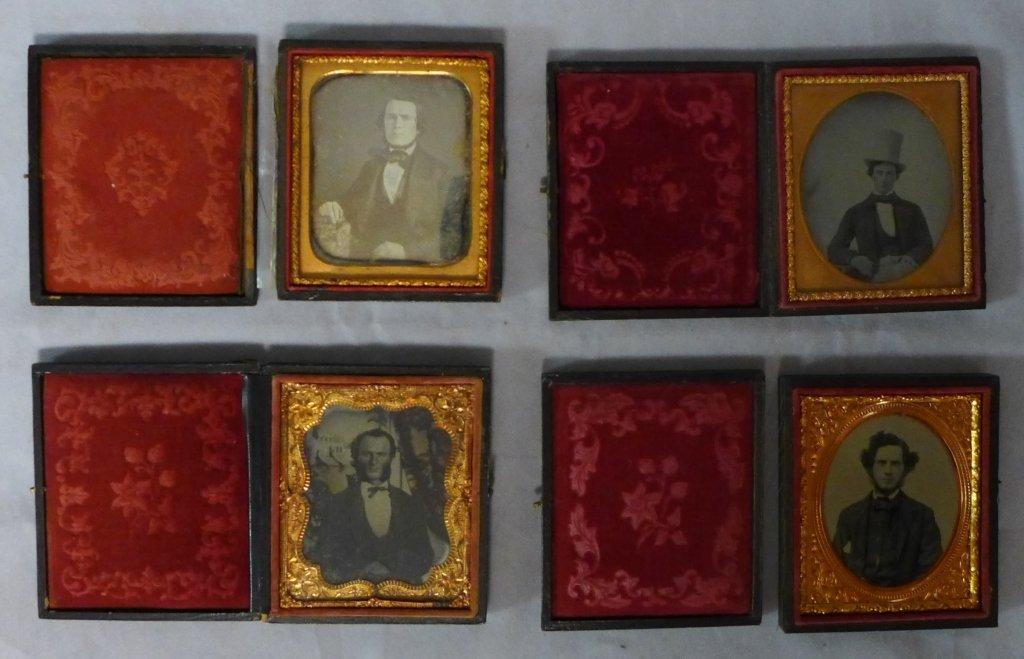 Four Cased Ambrotypes/ Daguerreotypes of Gentlemen - 7