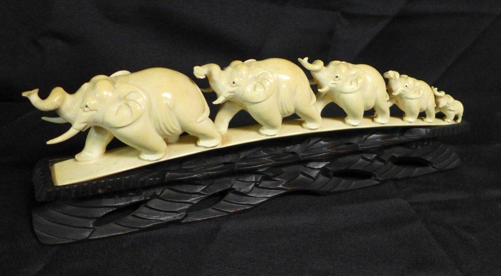 Chinese Carved Elephant Bridge