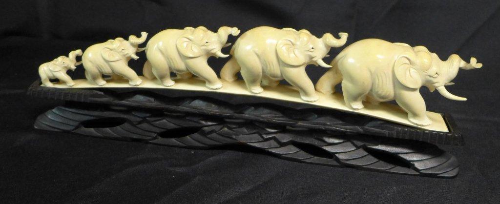Chinese Carved Elephant Bridge - 2