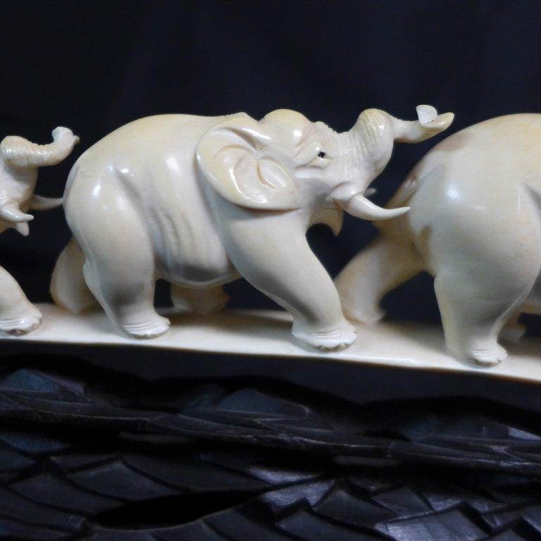 Chinese Carved Elephant Bridge - 9