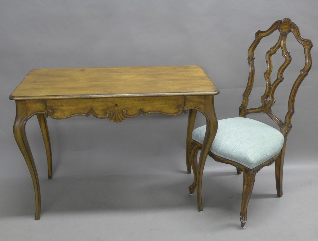 French Provincial Desk and Chair - 2