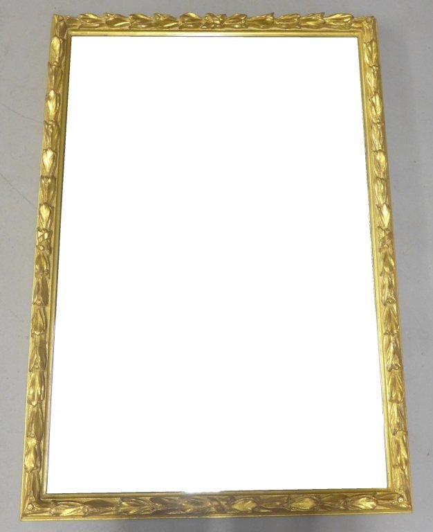 Beveled Glass Mirror in Antique Gilt Wood Frame
