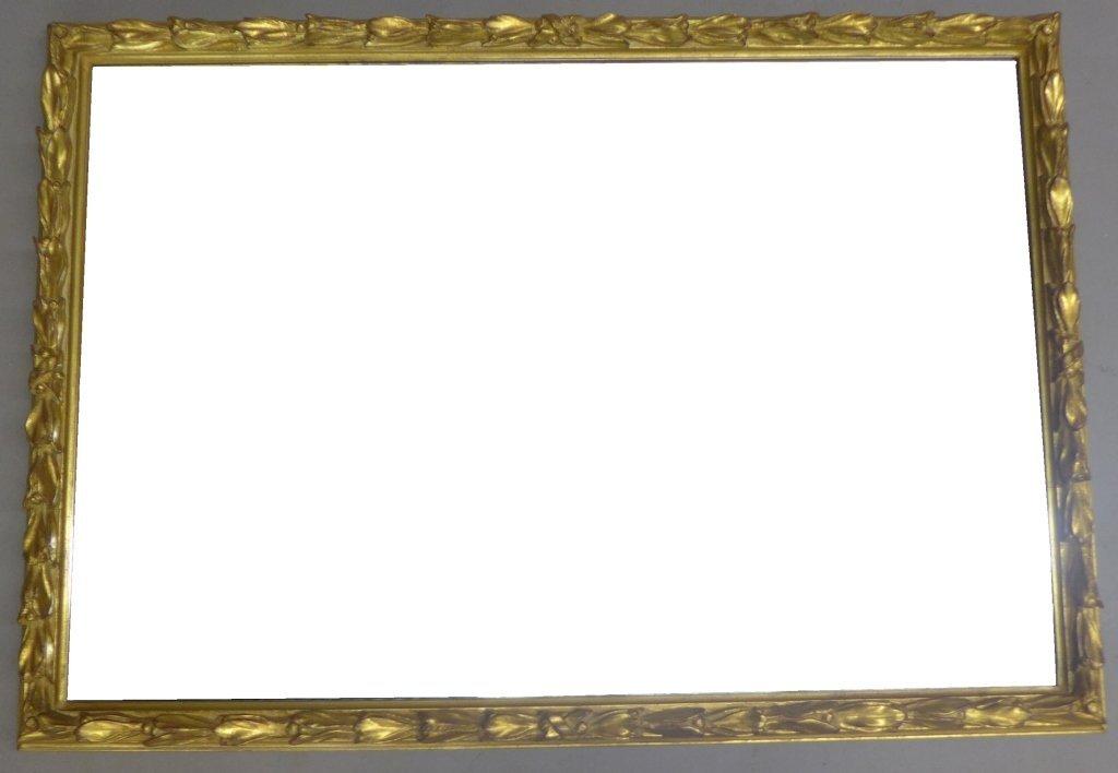 Beveled Glass Mirror in Antique Gilt Wood Frame - 2