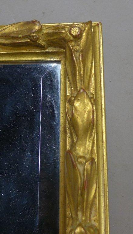 Beveled Glass Mirror in Antique Gilt Wood Frame - 6