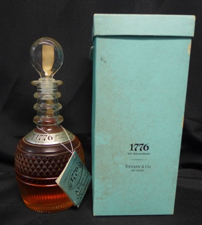 1776 by Seagram in Tiffany & Co Decanter