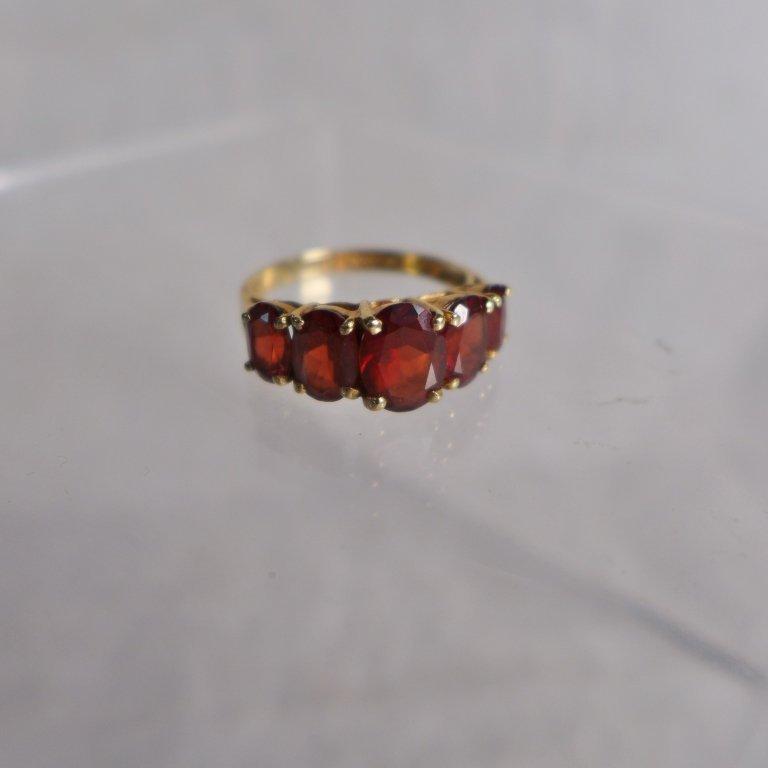 Gold & Garnet Ring - 2
