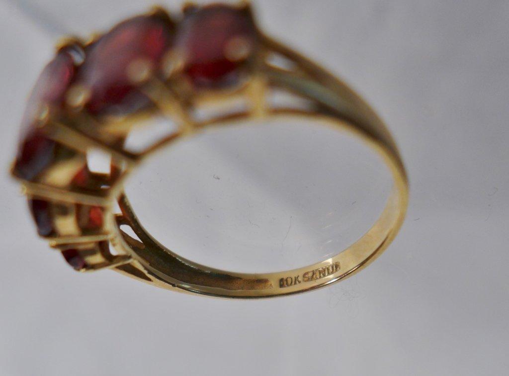 Gold & Garnet Ring - 4