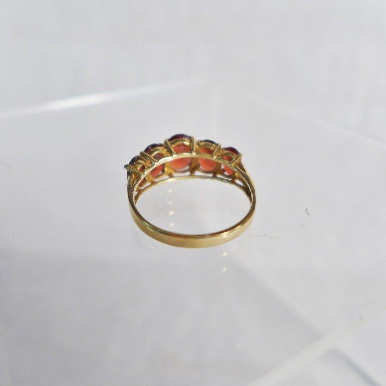 Gold & Garnet Ring - 5