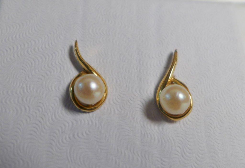 Gold & Pearl Tree of Life Pendant & Pearl Earrings - 3