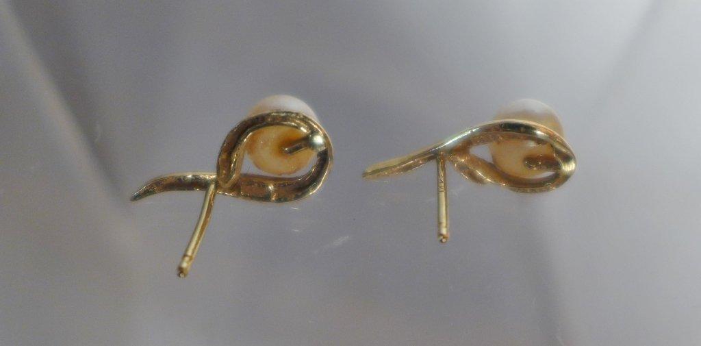 Gold & Pearl Tree of Life Pendant & Pearl Earrings - 5
