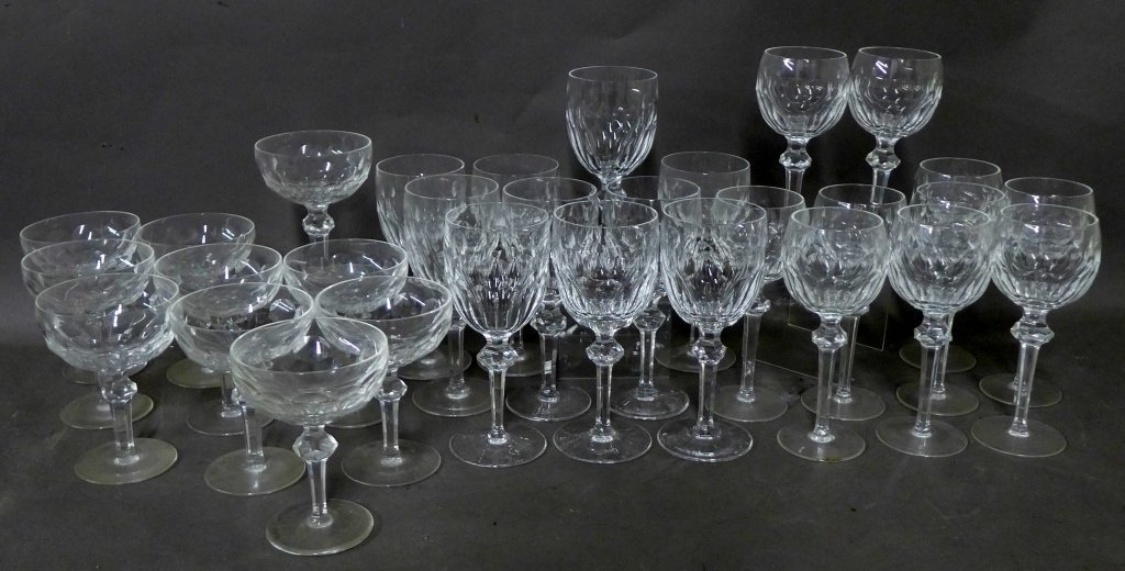30 Waterford Cut Crystal Goblets, Service for 10