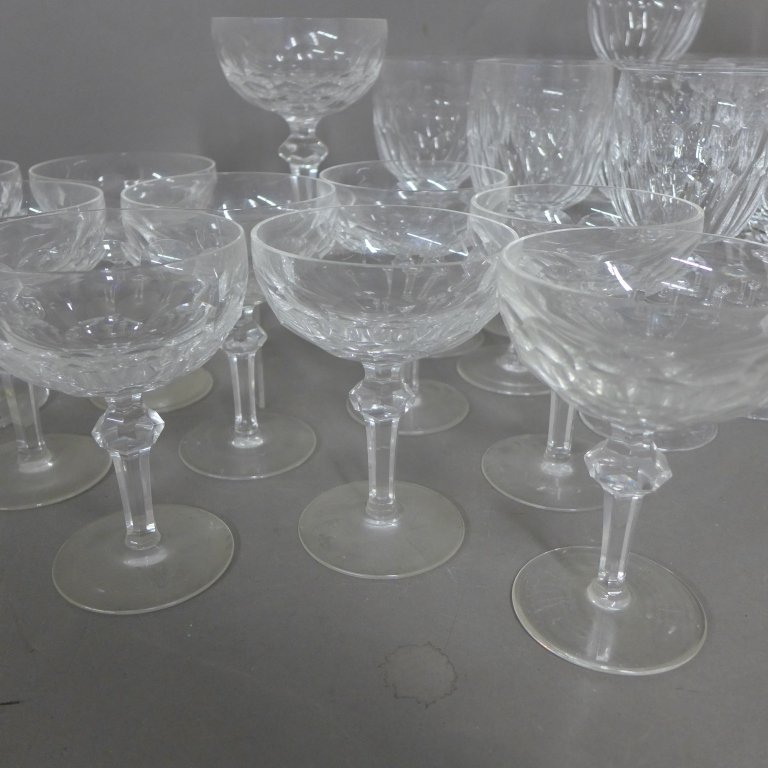 30 Waterford Cut Crystal Goblets, Service for 10 - 4