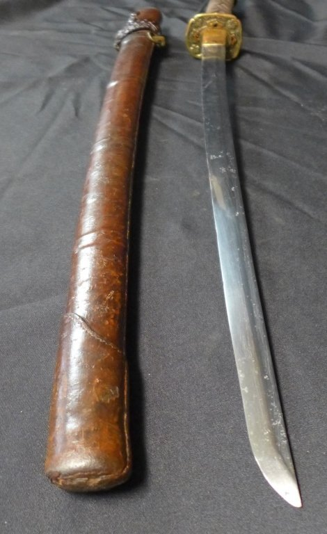 WWII Japanese Katana with Signed Blade - 10
