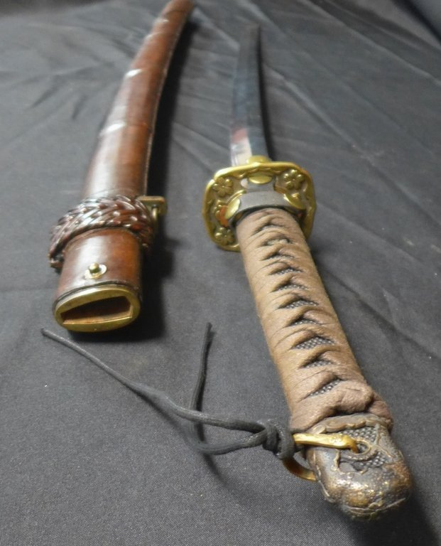 WWII Japanese Katana with Signed Blade - 6