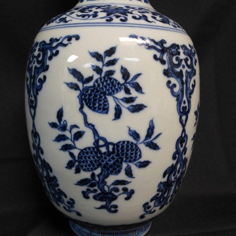 Chinese Blue and White Chinese Vase - 4