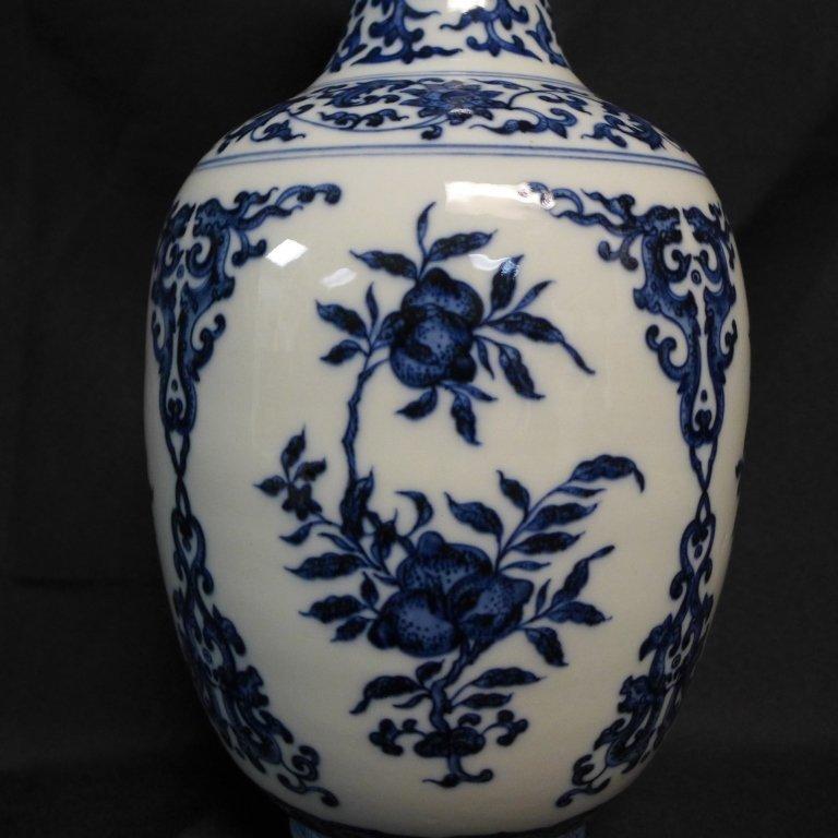 Chinese Blue and White Chinese Vase - 6