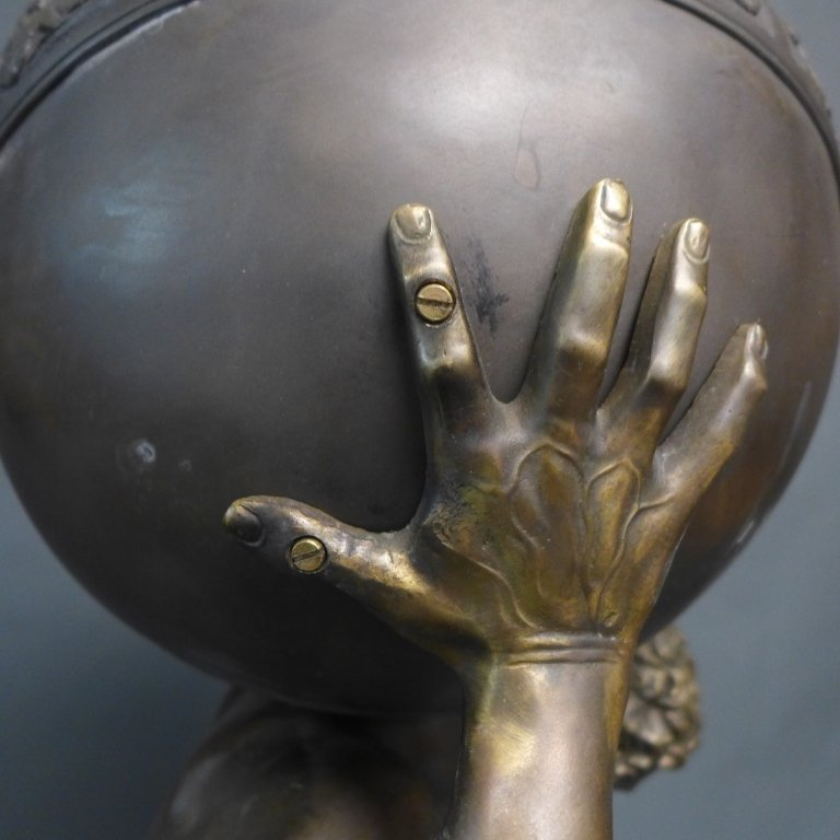 Bronze of Atlas Holding Zodiac Sphere - 6
