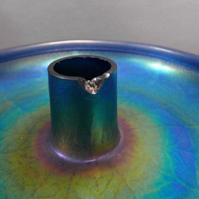 Louis C. Tiffany Favrile Iridescent Glass Bowl - 4