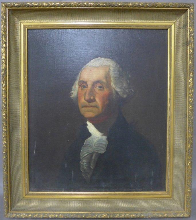 Antique Portrait Painting of George Washington