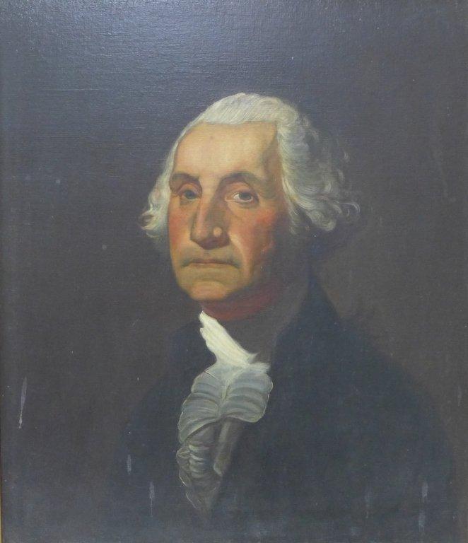 Antique Portrait Painting of George Washington - 2