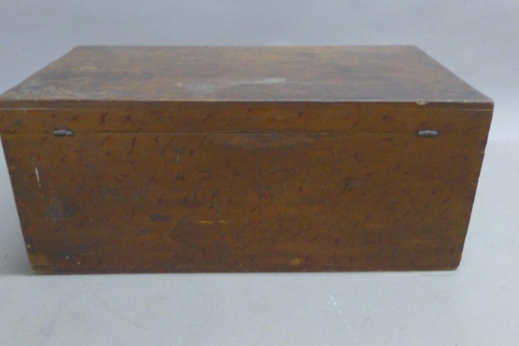 Vintage Wood Trunk - 10