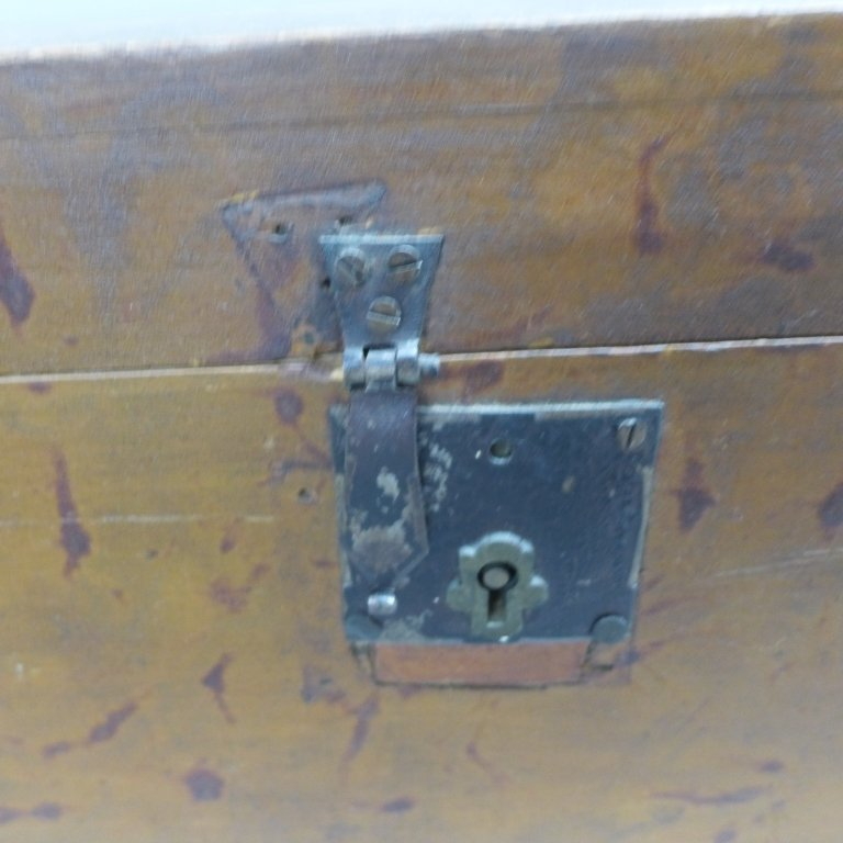 Vintage Wood Trunk - 5