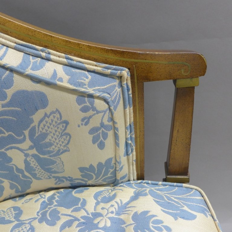 Upholstered Louis XVI Style Bergeres Arm Chairs - 4