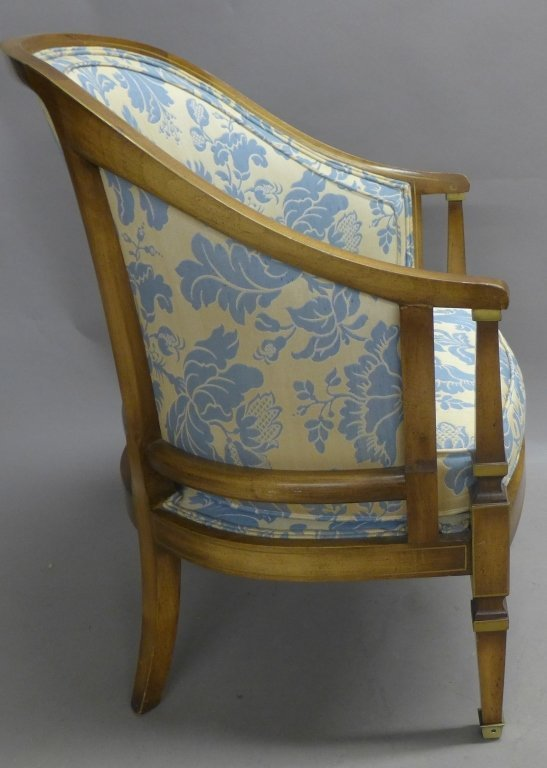 Upholstered Louis XVI Style Bergeres Arm Chairs - 5