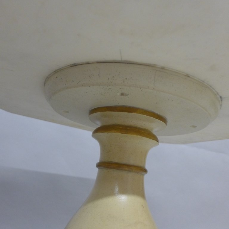 Pair Marble Top and Painted Wood End Tables - 5