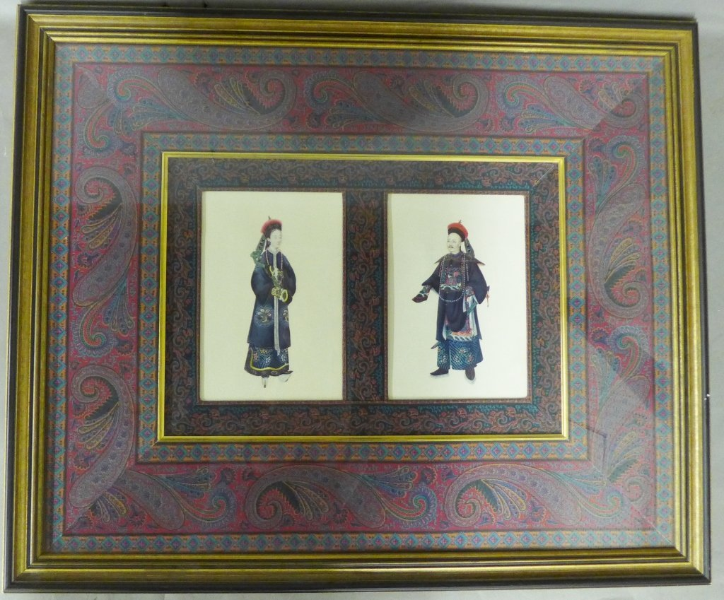 Framed Images: Asian Figures in Traditional Dress