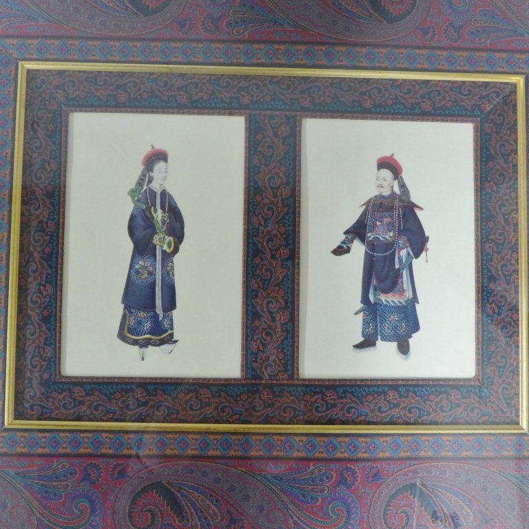 Framed Images: Asian Figures in Traditional Dress - 2