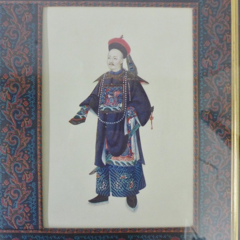 Framed Images: Asian Figures in Traditional Dress - 3