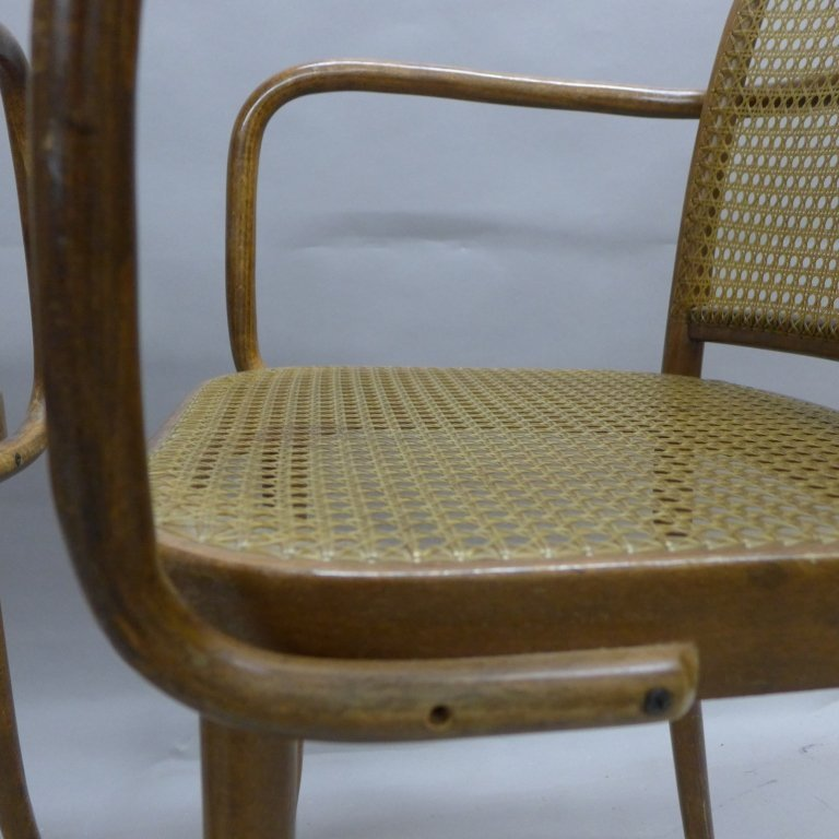 Pair Ligna (Czechoslovakia) Bentwood Chairs - 7